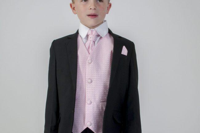5pc Black Diamond Suit in Pink-674