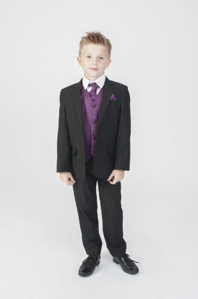 5pc Black Diamond Suit in Purple-0