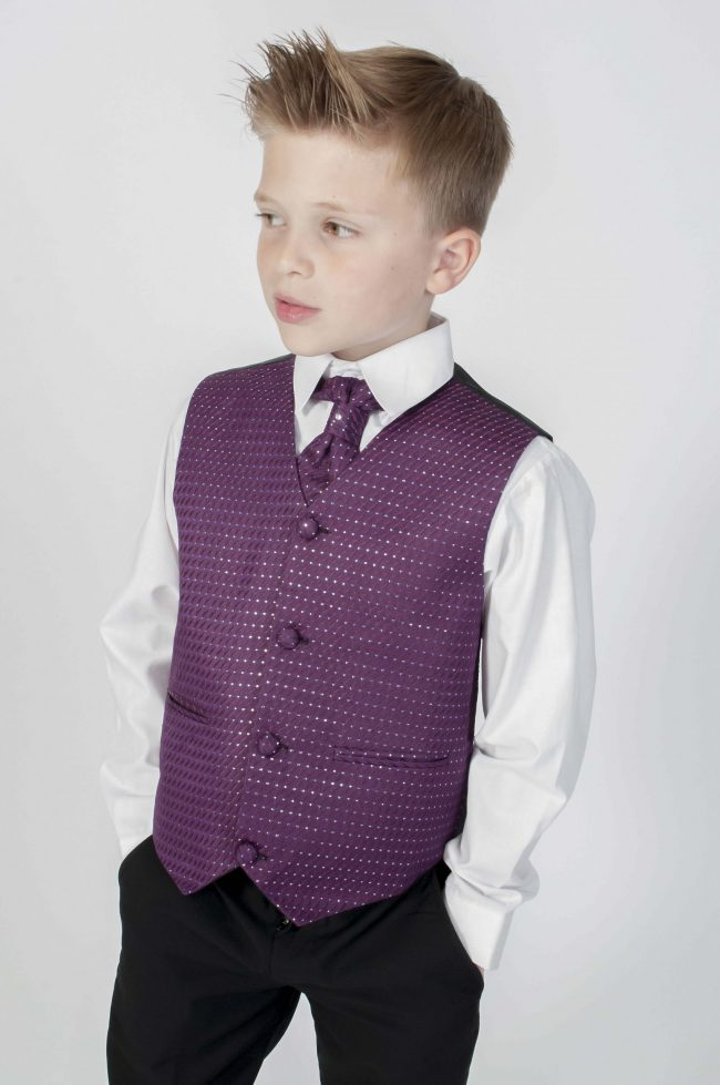 4pc Black Diamond Suit in Purple-0