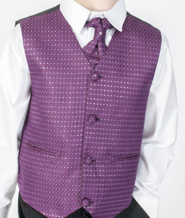4pc Black Diamond Suit in Purple-648