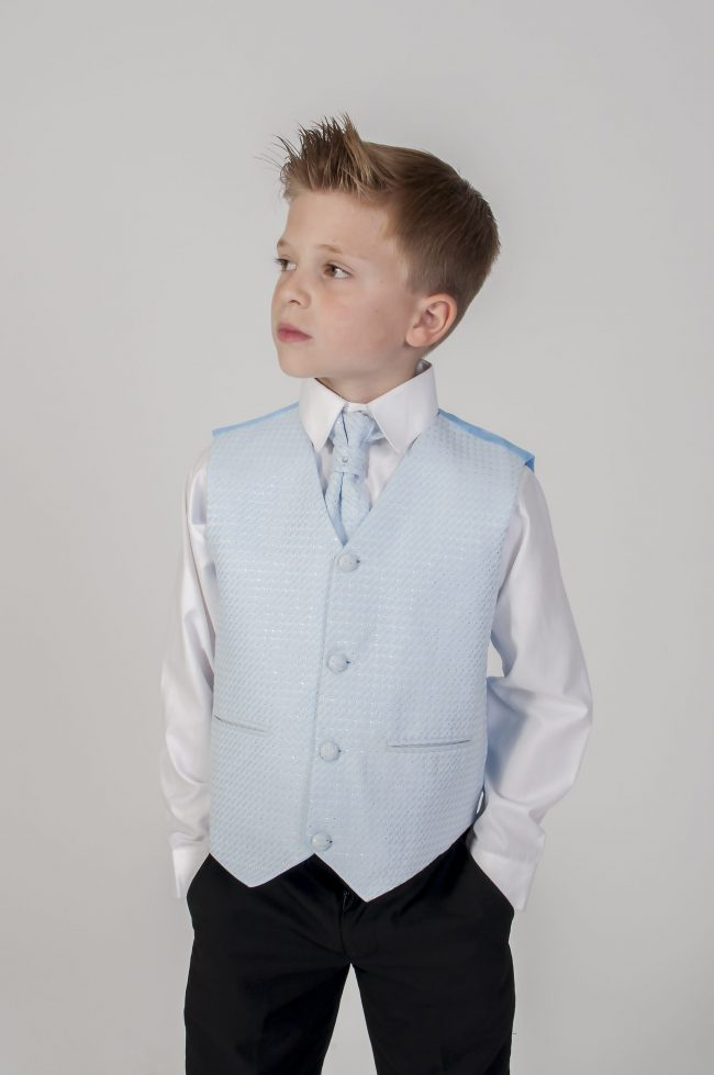 5pc Black Diamond Suit in Blue-765