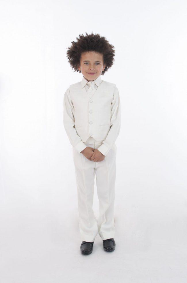 4pc All Cream Diamond Suit-0