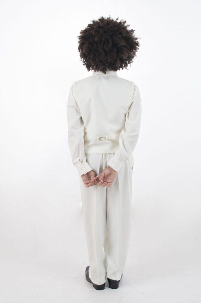 4pc All Cream Diamond Suit-590