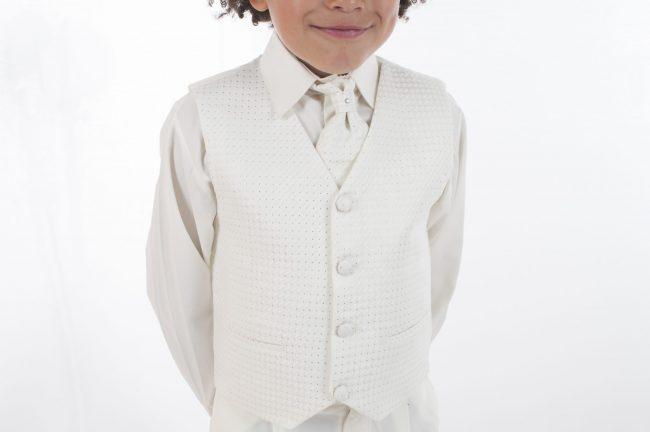 4pc All Cream Diamond Suit-589