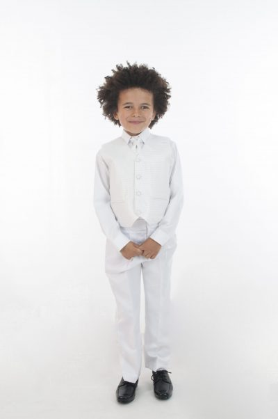 4pc All White Diamond Suit-0