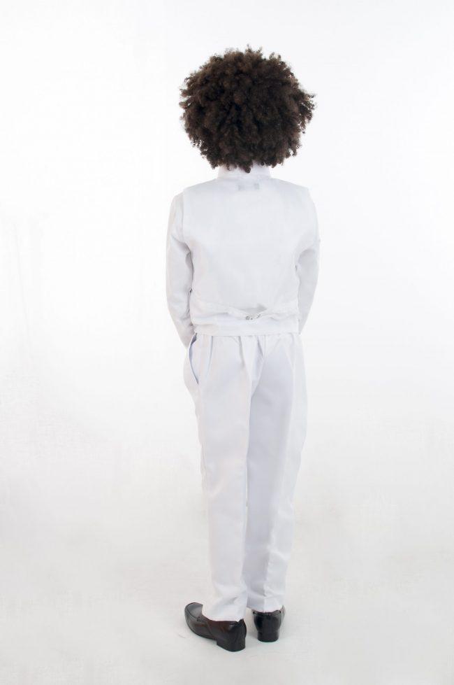 4pc All White Diamond Suit-700