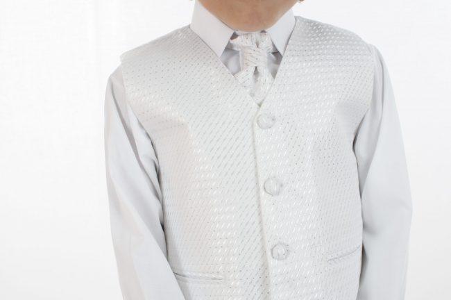 4pc All White Diamond Suit-701