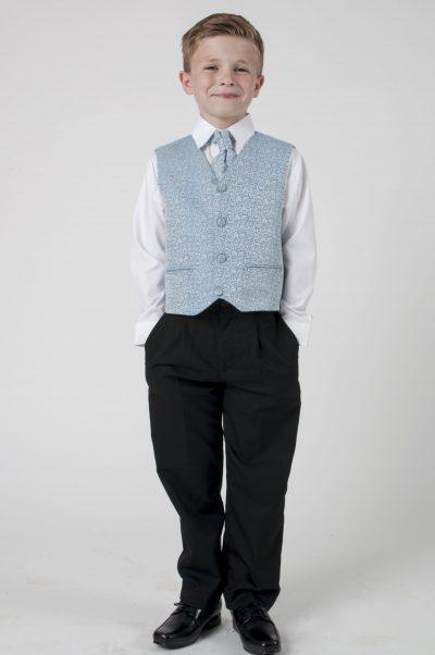 4 Piece Vivaki Swirl Suit in Blue-0