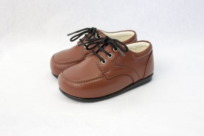 Boys Early Steps Royal Shoes in Brown-0