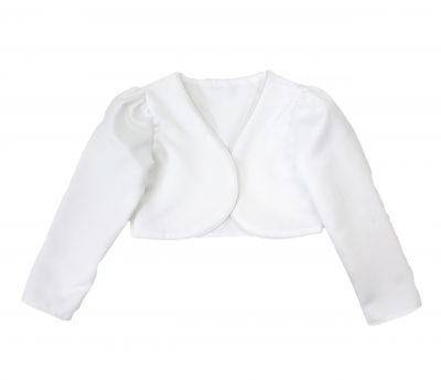 Girls Bolero in White-0
