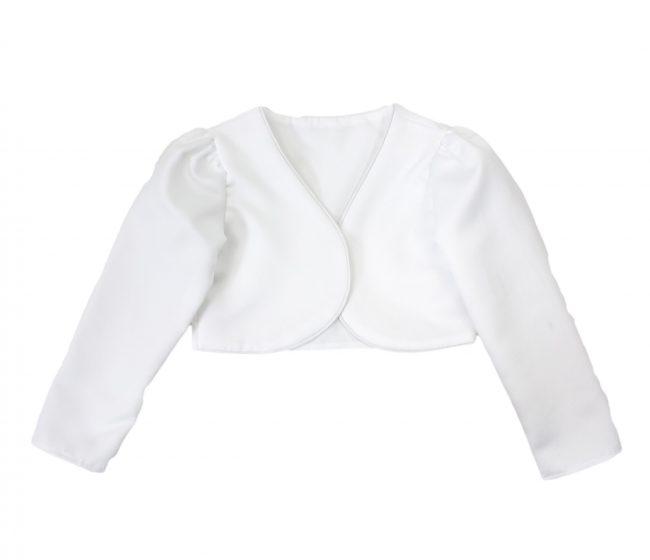 Girls Bolero in White-0