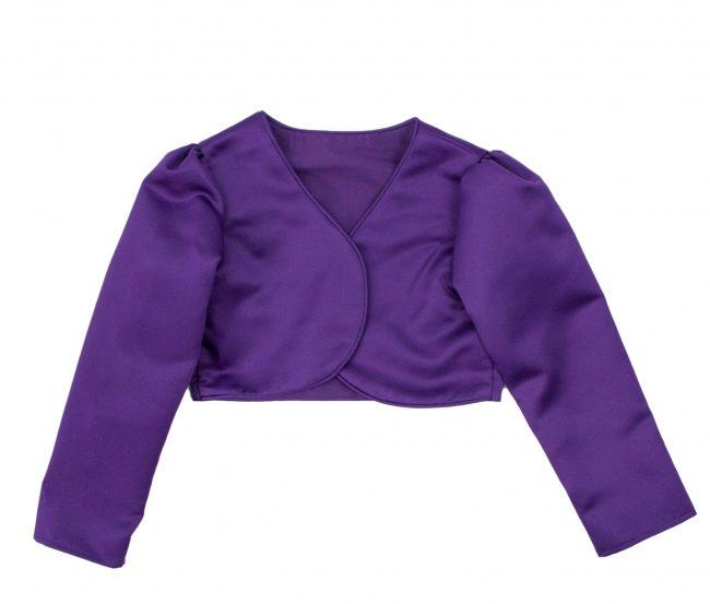 Girls Bolero in Purple-0