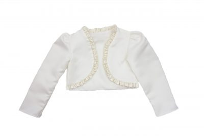 Girls Frilled Bolero in Cream-0