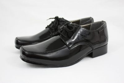 Boys Vivaki William Shoes in Patent Black-0