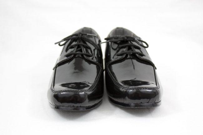 Boys Vivaki William Shoes in Patent Black-1097