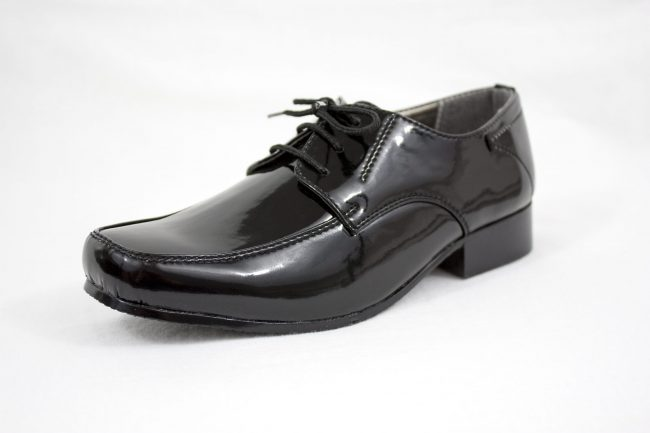 Boys Vivaki William Shoes in Patent Black-1098