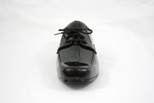 Boys Vivaki William Shoes in Patent Black-1096