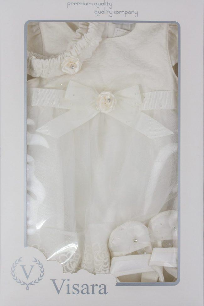 Visara Luxury 3 Piece Flower Dress Boxed Set -1057
