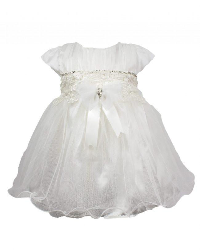 Visara Luxury 3 Piece Bow Dress Boxed Set -0