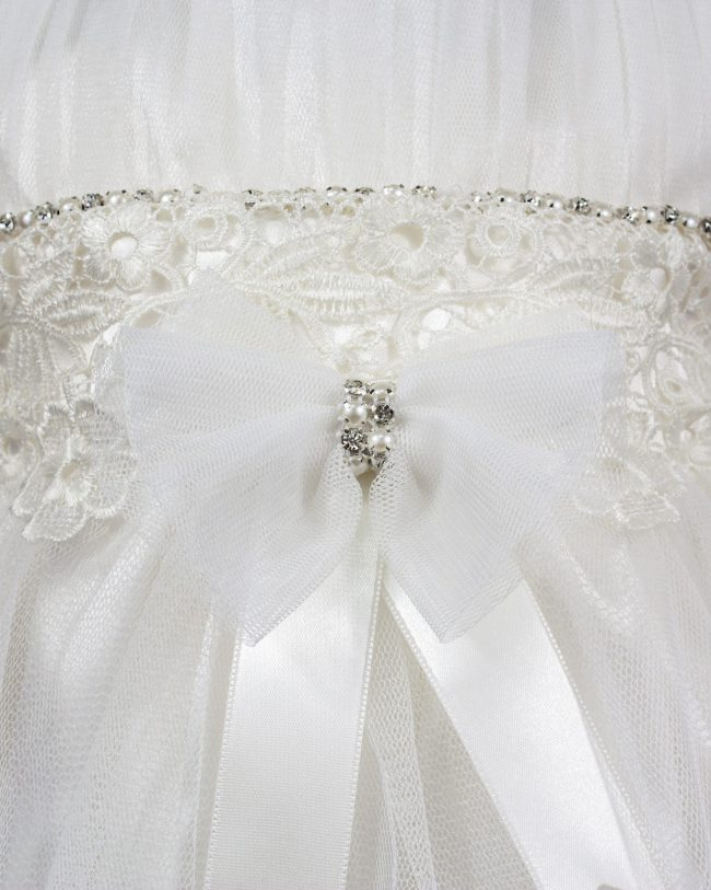 Visara Luxury 3 Piece Bow Dress Boxed Set -1049