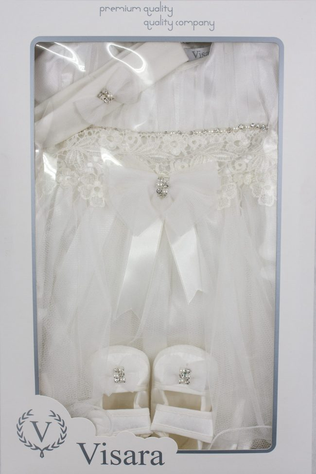 Visara Luxury 3 Piece Bow Dress Boxed Set -1052