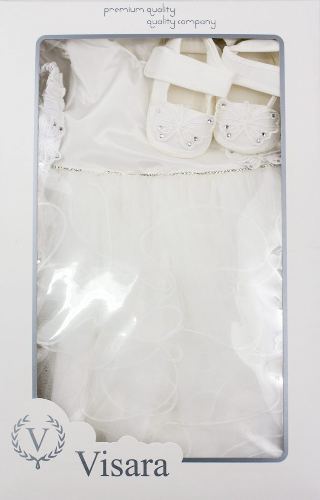 Visara Luxury 3 Piece Butterfly Dress Boxed Set -1066