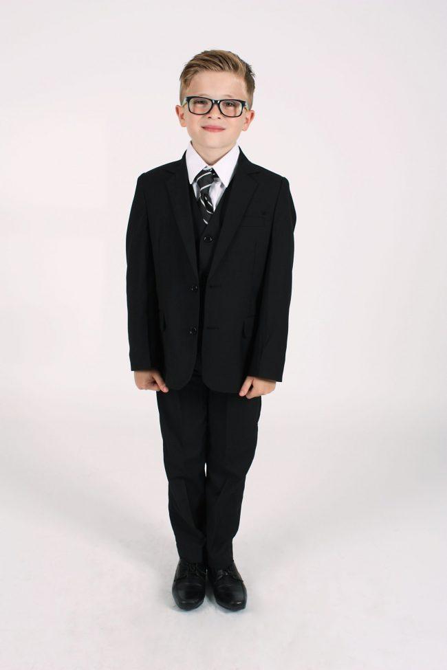 Vivaki 5 Piece Black Suit-0
