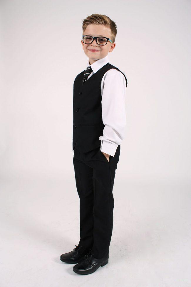 Vivaki 5 Piece Black Suit-1088
