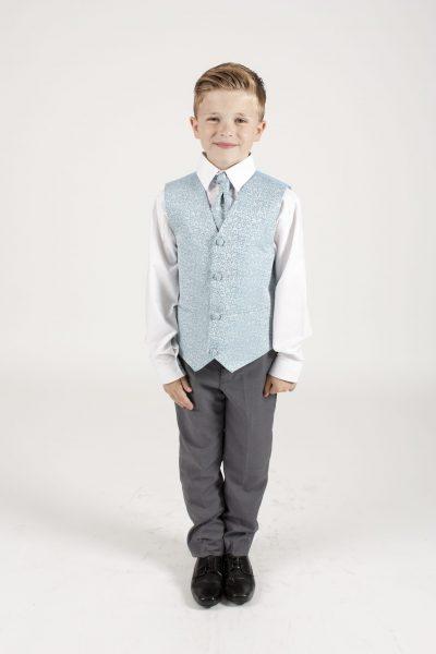 4pc Grey Swirl Suit in Blue-0