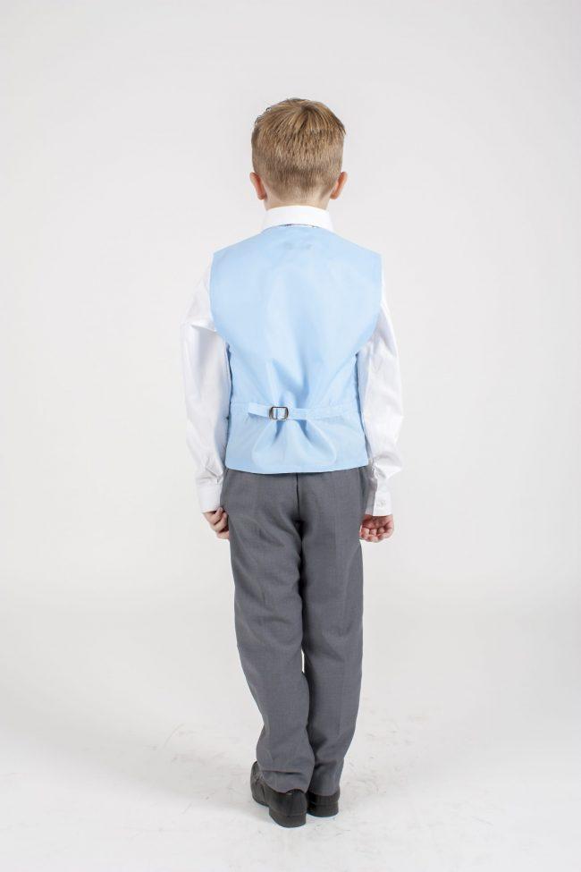 4pc Grey Swirl Suit in Blue-1122