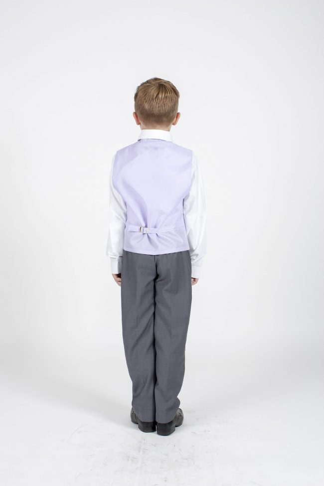 4pc Grey Swirl Suit in Lilac-1134