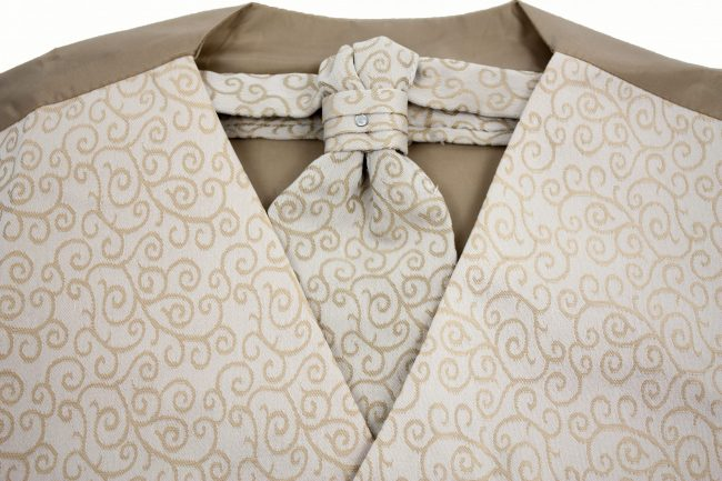 3PC Vivaki Swirl Waistcoat Set in Champagne-1227