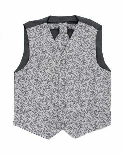 3PC Vivaki Swirl Waistcoat Set in Grey-0