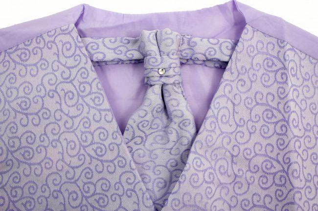 3PC Vivaki Swirl Waistcoat Set in Lilac-1269