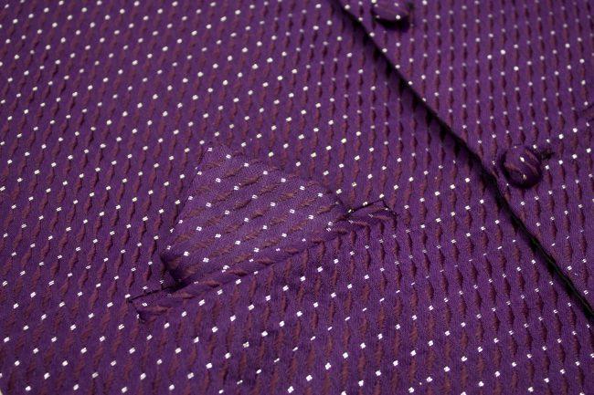 3PC Vivaki Diamond Waistcoat Set in Purple-1232