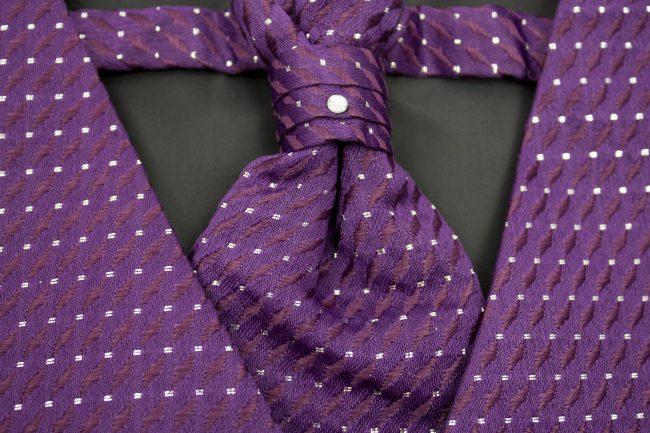 3PC Vivaki Diamond Waistcoat Set in Purple-1234