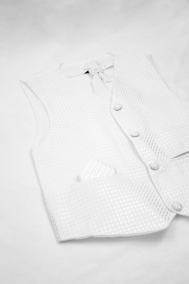 3PC Vivaki Diamond Waistcoat Set in White-1198