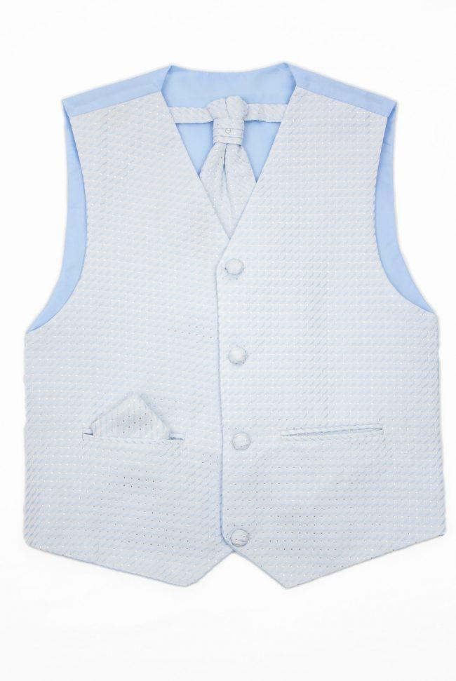 3PC Vivaki Diamond Waistcoat Set in Blue-0