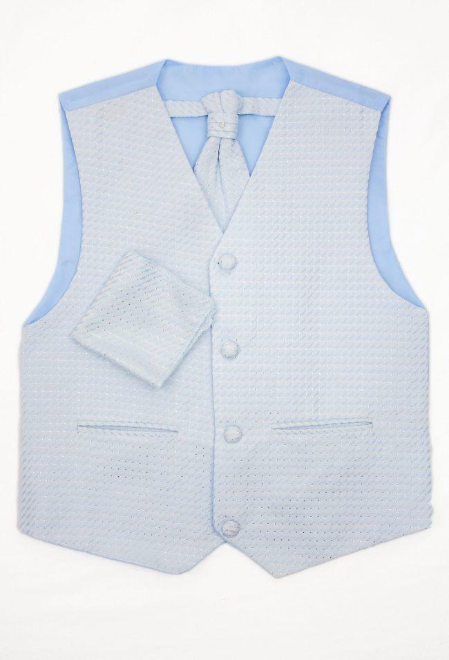 3PC Vivaki Diamond Waistcoat Set in Blue-1251