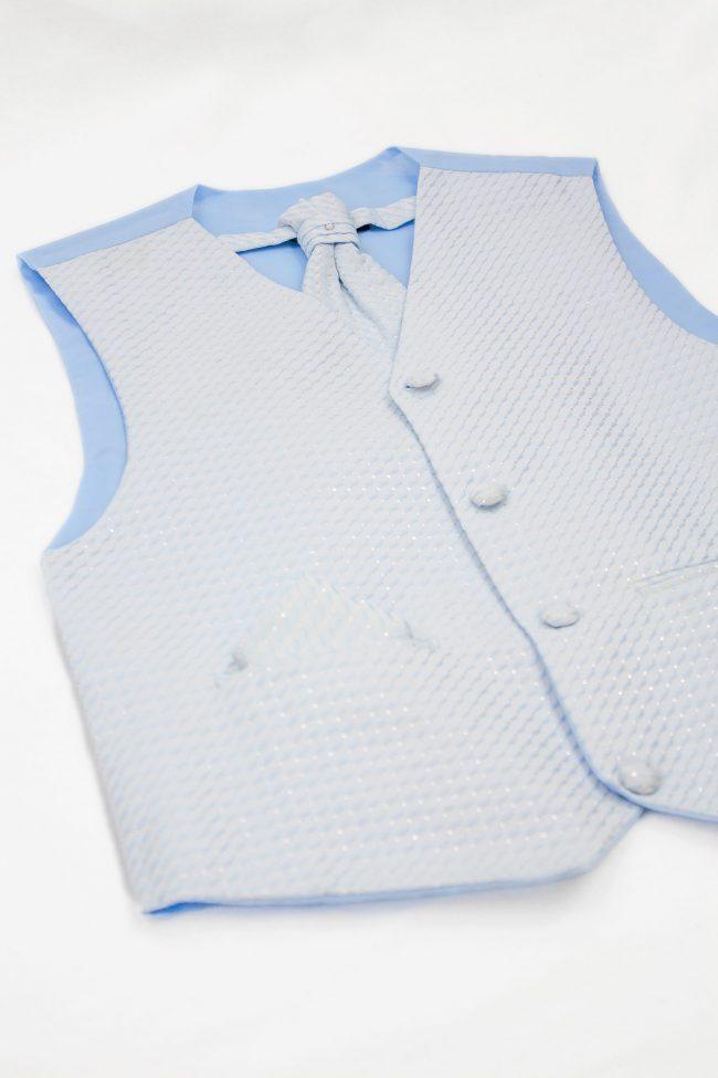 3PC Vivaki Diamond Waistcoat Set in Blue-1252