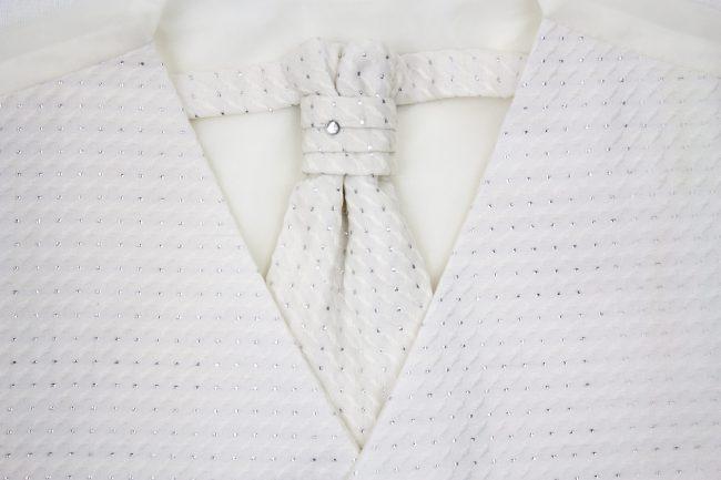 3PC Vivaki Diamond Waistcoat Set in Cream-1182
