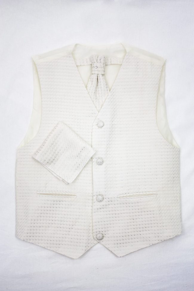 3PC Vivaki Diamond Waistcoat Set in Cream-1183