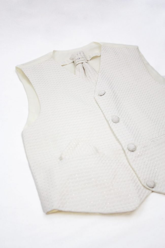 3PC Vivaki Diamond Waistcoat Set in Cream-1185