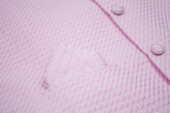 3PC Vivaki Diamond Waistcoat Set in Pink-1208