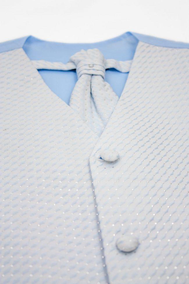 3PC Vivaki Diamond Waistcoat Set in Blue-1249