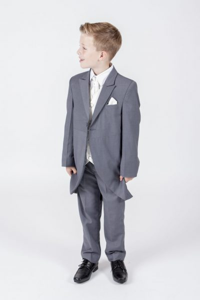 5 piece grey/ cream diamond tailcoat -0