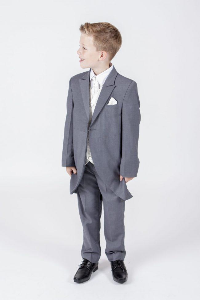 5 piece grey/ cream diamond tailcoat -0