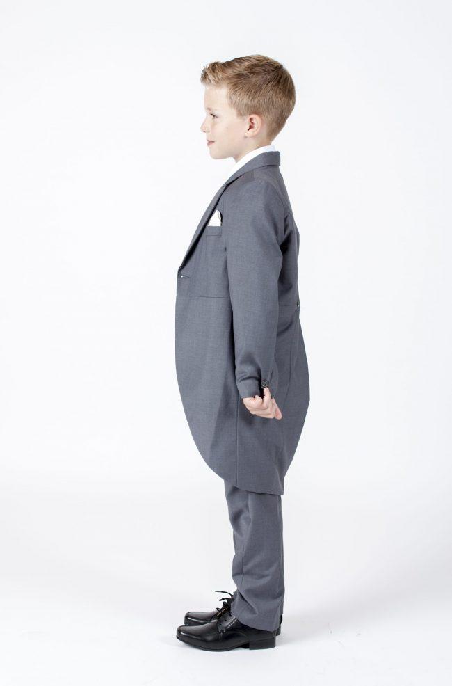 5 piece grey/ cream diamond tailcoat -1309