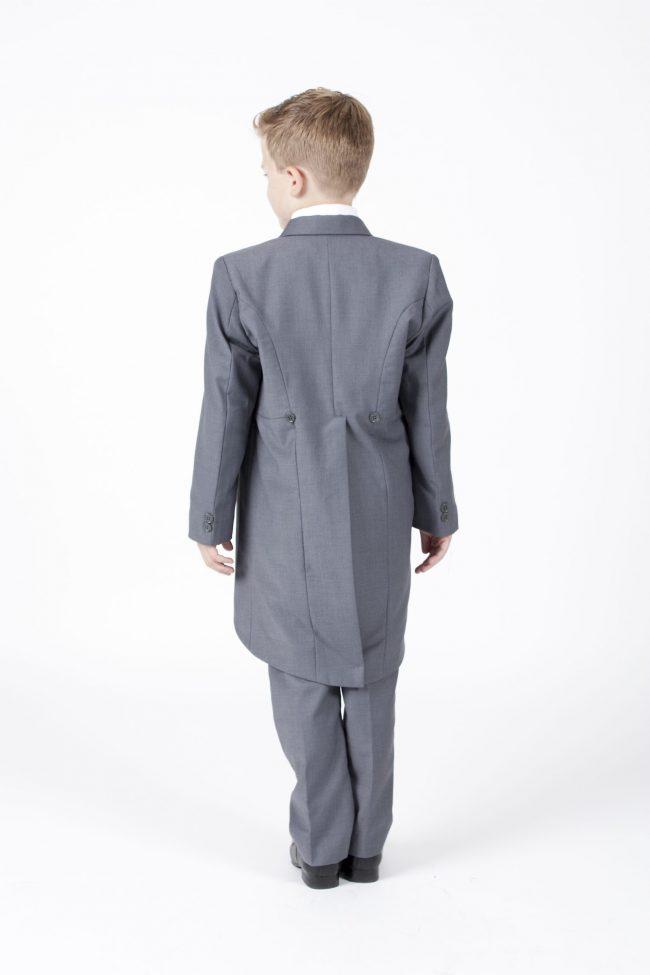 5 piece grey/ cream diamond tailcoat -1314