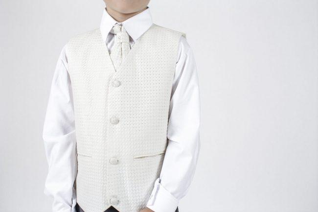 5 piece grey/ cream diamond tailcoat -1315